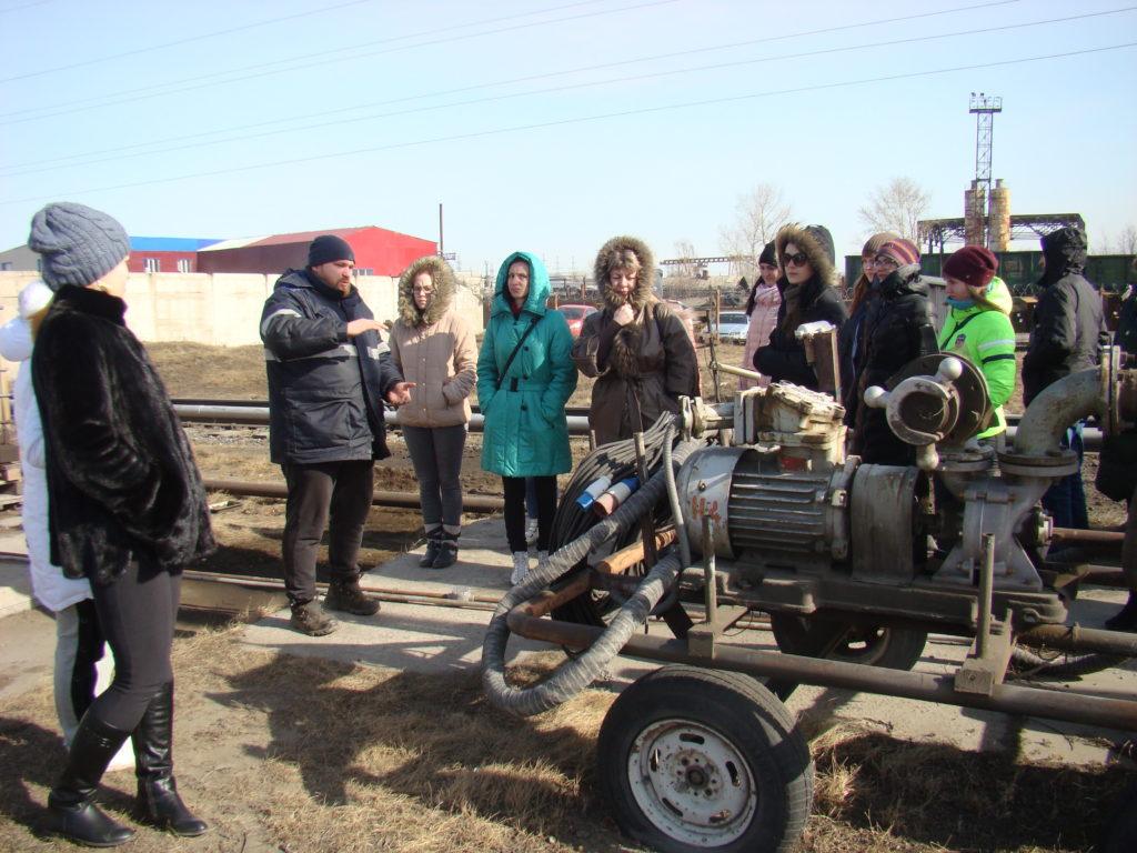 Сотрудники Голдман Груп на экскурсии на Нефтебазе